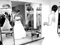 jayna dress shopping...dali style (jflower74 | jennifer webb photography) Tags: wedding white black shopping dress mirrors salvador dali