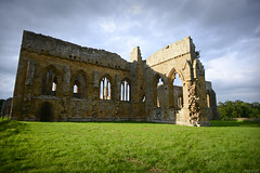 Rievaulx Abbey , Helmsley , North Yorkshire , YO62 5LB , United Kingdom (Ben Molloy Photography) Tags: blue summer england sky green english abandoned abbey grass architecture clouds buildings countryside nikon ruins ben yorkshire united gothic north ruin kingdom rievaulx helmsley cistercian molloy dilapidated 5lb yo62 benmolloy benmolloyphotography benmolloyhongkong