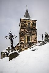 Eglise d'Ardengost (Herv D.) Tags: winter sky cloud snow church landscape hiver ciel neige nuage paysage eglise pyrnes pirineos aure ardengost valledaure