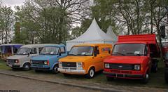 Transits (Schwanzus_Longus) Tags: red orange white bus ford colors modern germany cross bright hannover ambulance german transit van hanover feuerwehr department dept wilhelmshaven unloved krankenwagen