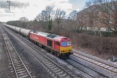 60011 (Tomahawk Photography) Tags: red train rail railway tug railways dbs oiltanks britishrailways ukrail bromsgrove class60 lickeyincline ukrailways bankersbridge dbschenker 60011