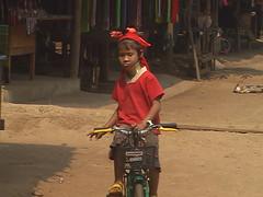 Paduang Child Riding Bike