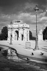 Carrousel (aenkae) Tags: carrousel louvres tuileries paris black white