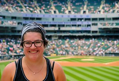 My youngest daughter who I spent the day with. (Cragin Spring) Tags: city family summer urban usa chicago illinois unitedstates baseball unitedstatesofamerica sox daughter chitown il southside whitesox ballpark chicagoillinois uscellularfield windycity chicagowhitesox