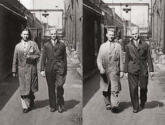 The Shapeshifter (Goran Patlejch) Tags: diptych men waking factory overall 1930s 30s thirties manufacture walking employees patlejch patlejh gntx goenetix workers shapeshifter boilersuit