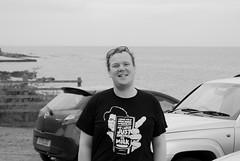 Andy (Topher Graham) Tags: fife scotland man portrait blackandwhite cars st monans