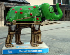 Herd of Sheffield (Elizabeth Story) Tags: herd sheffield elephant statues charity childrens hospital sculpture unique character creative
