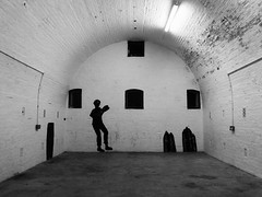Empty Room (teaselbrush) Tags: fort defense structure defensive historic military army underground room empty spooky eerie mural