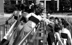 Pre Show Hands Together (Sakuramai Toronto) Tags: red summer people orange canada color girl festival japan pose japanese dance costume stage group performance dancer   mississauga aichi yosakoi kariya japanesefestival japanfestival