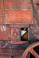 Smelly & Co Brisbane - nameplate on a Robey & Co thrashing (threshing) machine (outback traveller) Tags: historic seq