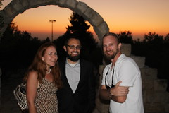Mates, arch and sunset (bobmendo) Tags: friends sunset israel arch archway mates barmitzvah yadhashmona summer2016
