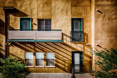 Tiny Balconies (GlennPope) Tags: door texture window architecture austin us texas shadows exterior unitedstates balcony hdr