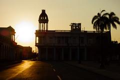 Palacio Ferrer (Dalliance with Light) Tags: sunset reflection silhouette architecture cu cuba palmtrees cupola cienfuegos palacioferrer