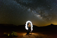 There's a light on in the Dark (CEBImagery.com) Tags: arizona implied light milkyway nature nude painting sedona spirtual woman