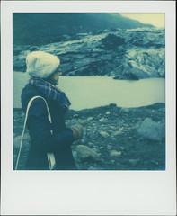 Slheimajkull 3 (sycamoretrees) Tags: 600 analog beta color600 color600201603 film girl glacier iceland impossible instantfilm integral integralfilm marianrainerharbach polaroid slr680 slheimajkull woman sland