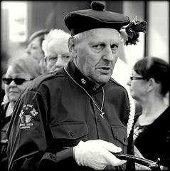 Was it something I said? (* RICHARD M (Over 5 million views)) Tags: candid street portraits portraiture candidportraits candidportraiture streetportraits streetportraiture mono blackwhite orangemensday orangeorder orangelodge loyalorangelodge lol uniforms beret stick staff swaggerstick dirtylook sidewaysglance iflookscouldkill eyeballed glare glaring scowl scowling sourpuss whitegloves marchers marches marching thetwelfth stare fixedstare staring menace southport sefton merseyside beadyeyes beadyeyed malelovent malevolence evileye