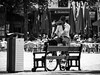 © Inge Hoogendoorn (ingehoogendoorn) Tags: denhaag thehague thenetherlands plein hetplein drinking drink bike dutchbikes dutchbike blackandwhite blacknwhite monochrome monochromatic monochroom streetphotography straatfotografie streetscene heineken contrast people peopleonthestreet