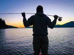 Soaking it In (E. Hanson) Tags: flyfishing hoodcanal washingtonstate sunset