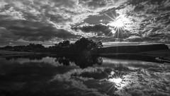 Mono sunset (murphy197) Tags: bw anneflaherty monochrome lake sunset longexposure nikond7100 scotland dramatic tokina1116mm blackandwhite