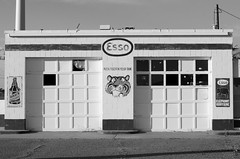 A tiger in your tank (dangr.dave) Tags: tucumcari nm newmexico downtown historic architecture quaycounty route66 esso gasstation tigerinyourtank tiger