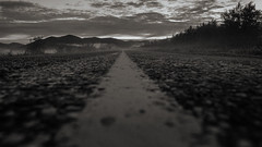 mythical road (SeALighT!) Tags: landschaft landscape suomi finland finnland lapland lappland kilpisjrvi night blackandwhite bw midnightsun road mountain