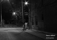 Place Dufresne 1 (Denis Hbert) Tags: denishbert anthropogeo faubourgmlasse centresud montreal montral qubec quebec canada 2015 monochrome montrealnight montrealcentresudnight montrealfaubourgmlassenight ngc newtopographer newtopographics newtopographic noiretblanc nuitcentresud nuitfaubourgmlasse nuitmontreal nuit bw blackandwhite blackwhite black ville city calme extrieur shadowy shadow shadows signs automne fall ombrage ombre november novembre darkandlight dark sombre urban urbaine urbain rue street tranquilit quiet lesabrutisnevoientlebeauquedanslesbelleschoses