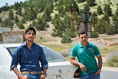 Buddies (lone_krusader) Tags: denizen welcome levis blue memorable jeans faisalabad enjoy people corolla balochistan outdoor d5200 vehicle wild pakistan map trees summer board glasses beautiful tree toyota car juniper style green ziarat dslr lightroom nikon