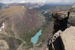 "Looking down on Cracker Lake from Mt. Siyeh • <a style=""font-size:0.8em;"" href=""http://www.flickr.com/photos/63501323@N07/28665677611/"" target=""_blank"">View on Flickr</a>"