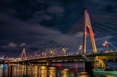 The calm before the storm (703) Tags: bluehour da18135mm japan pentaxk5 tokyo bridge cityscape dusk night nightscape nightscene nightview river twilight