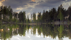 make it real (Sergey S Ponomarev) Tags: canon eos 600d nature natura lake reflection water 2014 travel flip upsidedown helsinki finland tourism adventure trip journey ef24105f40l panorama sunset forest clouds sergeyponomarev landscape paysage paesaggio europe                    sky nuvole lago