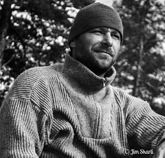 These lands I see before me... (Jim Skarli) Tags: bw blackandwhite portrait norway wilderness mono wool outdoors monochrome man