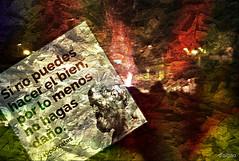 Fanatismo (Franco DAlbao) Tags: francodalbao dalbao fuji frase phrase hipcrates terrorismo pirmanos violentos textura texture composition composicin terror muerte death fanatismo fanatism hate odio locura madness