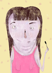 mascara problems (twiing) Tags: mascra women photoshop digital digitalart art artist sketch sketching illustration illustrator illusion girl fun nightmare design color facedowntuesday august me summer drawing surreal