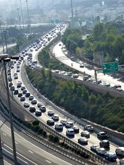 Motorway (eltpics) Tags: eltpics motorway highway traffic rushhour dense view urban city queueing congestion