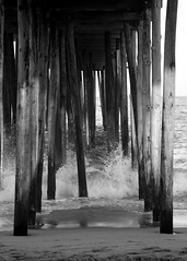 Secret Keeper (AngelBeil) Tags: oceancity boardwalk under pier undertheboardwalk bnw blackandwhite