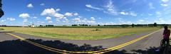 BARC Panorama w Nicole (Mr.TinDC) Tags: panorama panoramas beaverdamroad nicole md maryland pgcounty princegeorgescounty barc beltsville agricultural farmland