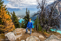 Where I Stand- October 7, 2016 (zachary.locks) Tags: i ab alberta banff beehive below big blue canada cy365 difficult down edge elevation high hiking lake long louise mountains national overlook park portrait rocks self stand steep teal top turquoise up way where world zlocks