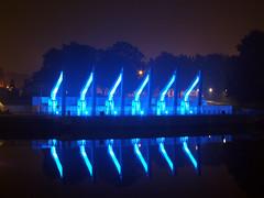 Weserwehr (williwacker85) Tags: weserwehr nacht iluminiert blue blau