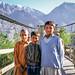 Shy boys on the blidge, Gilgit, Pakistan パキスタン、ギルギット 橋の上で出会ったシャイな男の子たち