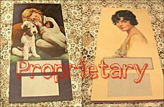 Antique cardboard set of art posters, J Knowles Hare, Art Deco, pretty lady, little girl, dog, doll, antique ephemera, pristine. (GladRaggz) Tags: antique artposters cardboard jknowleshare artposter vintageephemera prettylady littlegirl dog doll sweet artdeco