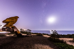 The Milky Way and the wooden eagle in Del Mar (slworking2) Tags: delmar california unitedstates us eagle sculpture sandiego milkyway