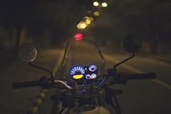 The night is still young... (The Canon Fanboy) Tags: royalenfield himalayan india delhi travel colors bokeh beyondbokeh indian travelling
