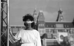 Lady Injustice (Arne Kuilman) Tags: nikon f100 analogue orwo un54 blackandwhite iso100 amsterdam nederland netherlands scan epson v600 antittip rally protest rijksmuseum museumplein orestor meyergrlitzorestor100mmf28 vrouwejustitia injustice lady blindfolded