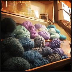 Scrummy yarn (breakbeat) Tags: hipstamatic oxford instameet instagrammeetup photowalk city hipstamaticapp darnitandstitch sewingshop knitting yarn haberdashery display colours