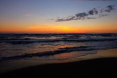 When the lights turn off (MelissaStemmer) Tags: lights strand italien kste meer ocean sonnenuntergang blue colours
