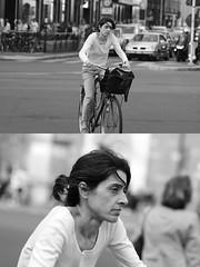 [La Mia Citt][Pedala] (Urca) Tags: milano italia 2016 bicicletta pedalare ciclista ritrattostradale portrait dittico bike bicycle nikondigitale mir biancoenero blackandwhite bn bw 89831