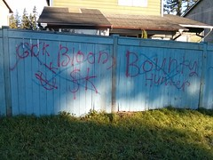 BOUNTY HUNTER BLOODS (northwestgangs) Tags: graffiti lynnwood gangs everett bloods crips snohomishcounty ganggraffiti surenos