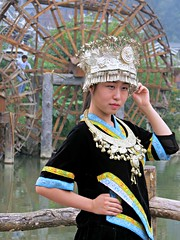 Beautiful Dong outfit (Linda DV) Tags: china street travel portrait people face geotagged candid cultu