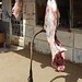 Around Karima's market -  the shadow of the carcass