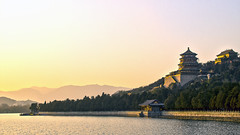 Twilight Landscape at Summer Palace in Beijing, China(이화원 풍경) (Johnnie Shene Photography(Thanks, 2Million+ Views)) Tags: china travel light sunset summer people sun sunlight lake colour building tourism sunshine horizontal architecture canon lens landscape asian outdoors photography eos rebel lights twilight pond ancient travels focus scenery kiss asia tour image zoom outdoor no sightseeing chinese beijing scenic tranquility scene palace images structure journey destination oriental tamron 18200 tranquil built scenics attraction freshness 풍경 selective t3i x5 중국 여행 twilights 18200mm fragility diii 600d 북경 이화원 3563 f3563 베이징
